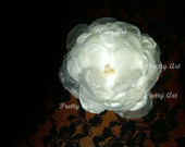 Flor cetim e organza