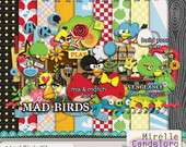 Digital Kit de Scrap Mad Birds