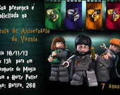 Convite de Anivers�rio do Harry Potter