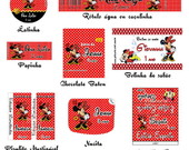 Kit Para Impress�o Minnie vermelha