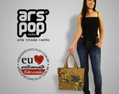 Bolsa em Lona Estampada Carpa Dour/Dour
