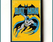 Quadro Batman Vintage