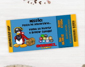 Convite Club Penguin