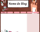Template para Blog - Makeup for you 2011