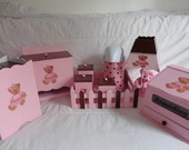 Kit Completo Beb- Marrom e Rosa