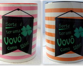 Caneca Personalizada Sorte  ter um ...