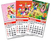 Mini calendrio personalizado imantado
