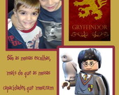 Cart�o Foto Recorda��o Harry Potter Lego