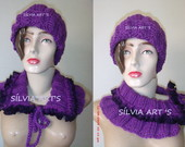 CONJUNTO DE GORRO COM GOLA MIMO