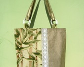 Ecobag Bambu & Renda Branca