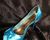 Peep Toe Azul Tiffany