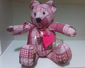 Urso Teddy Patchwork