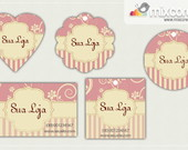 Kit Tags - Etiquetas Com Design Mod68