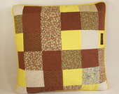 Capa para Almofada Patchwork Marrom