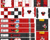 Kit Festa Proven�al Minnie Vermelha