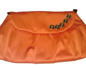 Clutch com chatons - Laranja