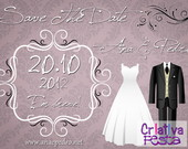 Save The Date Magntico - Lils 10x15