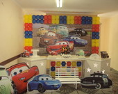 Decora��o de Festa Clean Carros