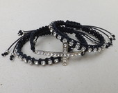 Conjunto Pulseiras com Cruz