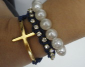 Mix pulseiras azul marinho
