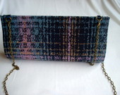 Maxi Clutch Xadrez Dourado