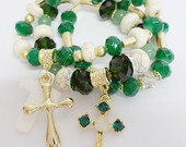 Conjunto de Pulseiras Verde P5506
