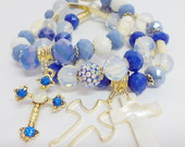 Conjunto de Pulseiras Azul Celeste P5505