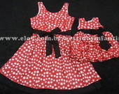 Vestidos Me e Filha Minnie