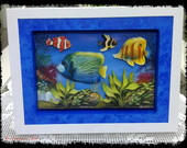 Quadro de aqurio 3D