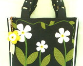 Bolsa Jeans Margaridas