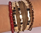 Bracelete Misto em ouro velho e dourado