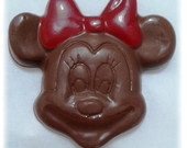 Pirulito de Chocolate Minnie (rosto)