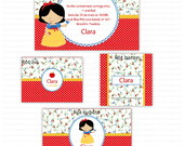 Kit digital para imprimir Branca de Neve