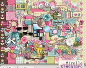 Digital Kit de Scrap Just like Mom