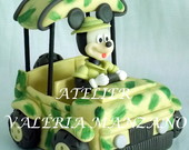 TOPO DE BOLO SAFARI DO MICKEY