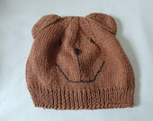 GORRO URSO MARROM 4 ANOS A ADULTO