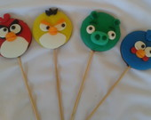 Angry Birds - Pirulitos Decorados