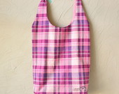Tote Bag *Xadrez (Rosa)