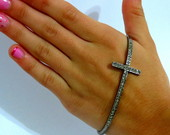 Pulseira mo crucifixo grafite