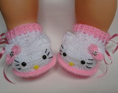 ❀pantufinha Hello Kitty ❀ Rosa bebe