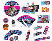Kit festa papel Monster High impressa