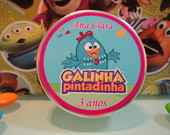 Latinha personalizada galinha pintadinha