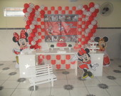 Decora��o Clean Minnie vermelha