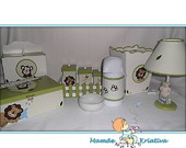KIT COMPLETO 10 PE�AS - Tema Safari baby