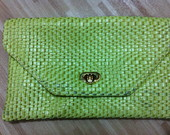 Clutch Corrente Tress� Verde Lim�o