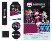 Kit Arte Monster High - suas amigas