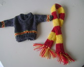Mini sueter mini cachecol harry potter
