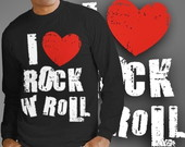 CAMISETA I LOVE ROCK IN ROLL - 89001