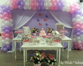 Loca��o mesa decorada Hello Kitty
