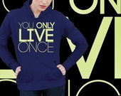 AGASALHO DE MOLETON YOU ONLY LIVE-92607